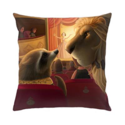 Подушка Лев и Енот в театре