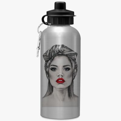 Спортивная бутылка/фляжка Red lips