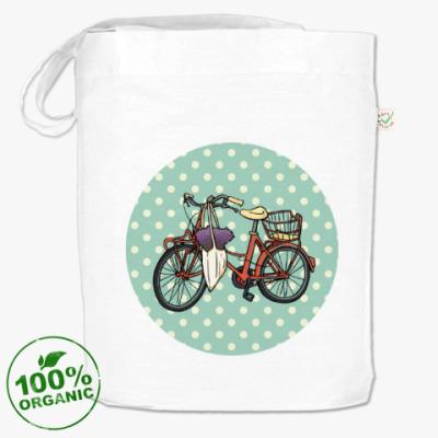 Сумка Винтажный велосипед с цветами