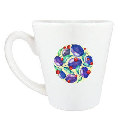 Чашка Латте Вишни и сливы