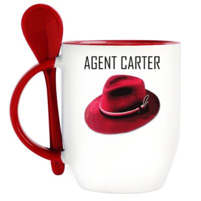Кружка с ложкой Agent Carter
