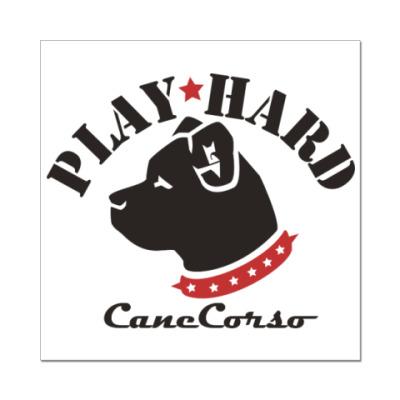 Наклейка (стикер) Cane Corso Play Hard!