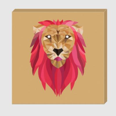 Холст Лев / Lion