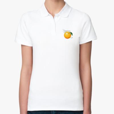 Женская рубашка поло Раздень меня - Апельсин