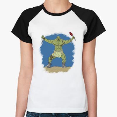 Женская футболка реглан супермутант