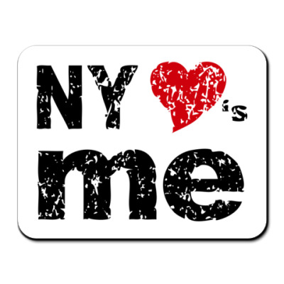 Коврик для мыши  NY Loves Me