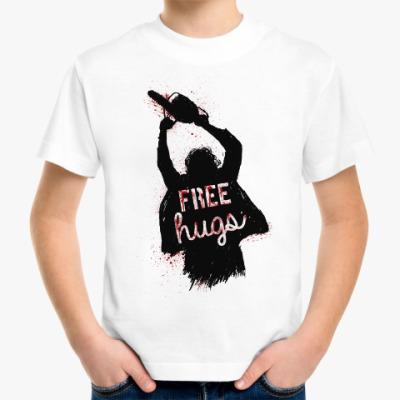 Детская футболка Кожаное лицо обнимашки