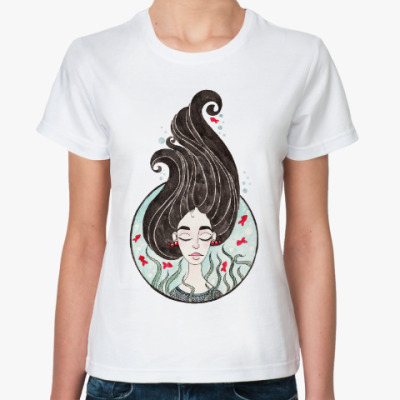 Классическая футболка Морская дева