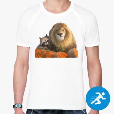 Спортивная футболка Лев и Енот