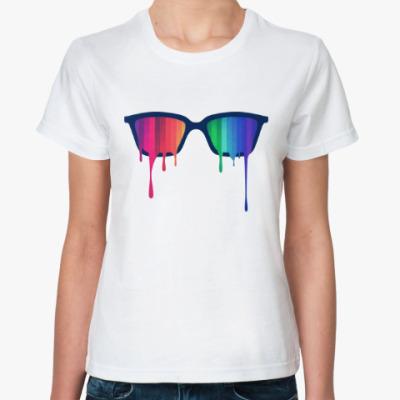 Классическая футболка Хипстер: очки