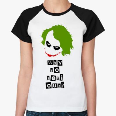 Женская футболка реглан Джокер