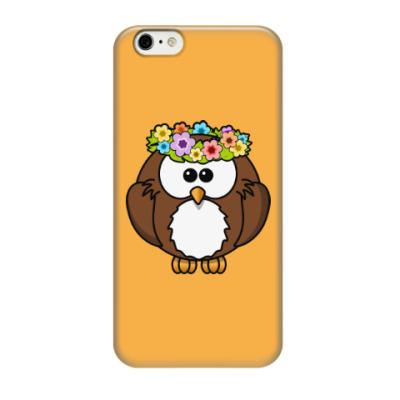 Чехол для iPhone 6/6s Сова с цветами
