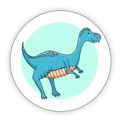 Костер (подставка под кружку) Динозаврик