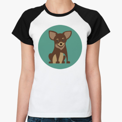 Женская футболка реглан Sweet dog