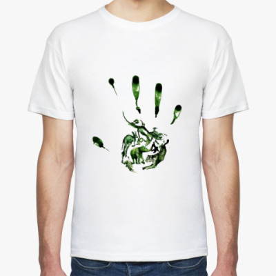Футболка Зеленый отпечаток