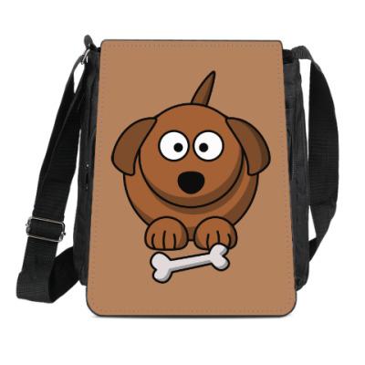 Сумка-планшет Собачка с косточкой