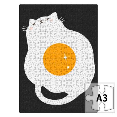 Пазл Кот-яичница