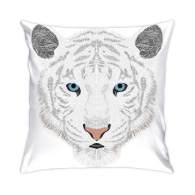 Подушка Белый тигр