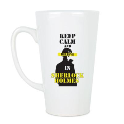 Чашка Латте Sherlock Holmes