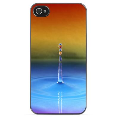Чехол для iPhone Капля и круги на воде