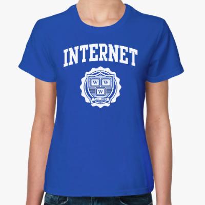 Женская футболка Интернет