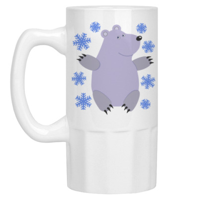 Пивная кружка Белый мишка