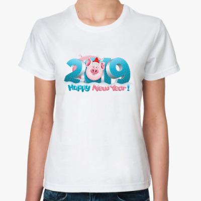 Классическая футболка Символ 2019 года