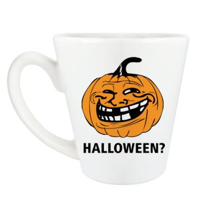 Чашка Латте Trollface - Halloween?