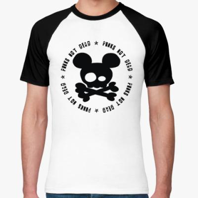 Футболка реглан Mickey, punks not dead!