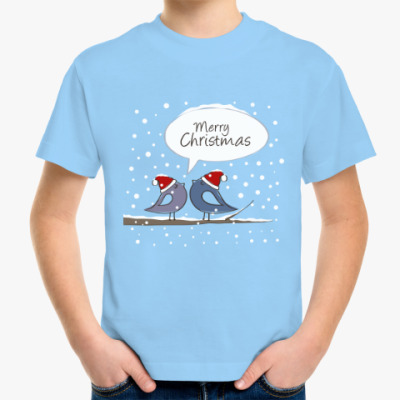 Детская футболка Новогодняя Merry Christmas 2016