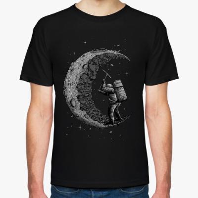 Футболка Moon worker космонавт на луне
