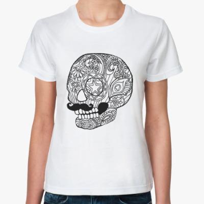 Классическая футболка Череп с усами