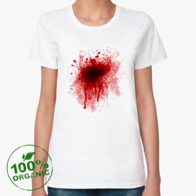 Женская футболка из органик-хлопка Кровь