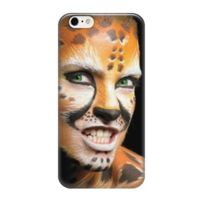 Чехол для iPhone 6/6s Боди-арт Леопард