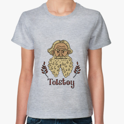 Женская футболка Лев Толстой