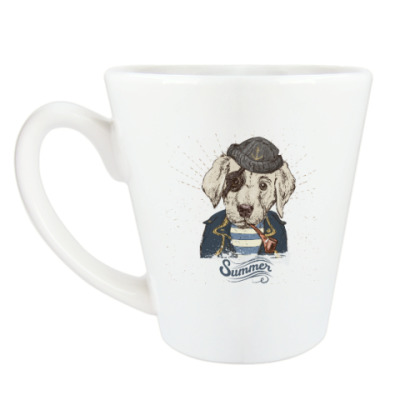 Чашка Латте Пиратский собака