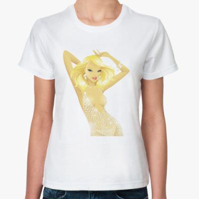Классическая футболка Блондинка