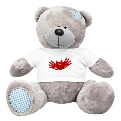 Плюшевый мишка Тедди Сердце в руках