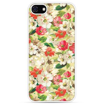 Чехол для iPhone Акварельные цветы
