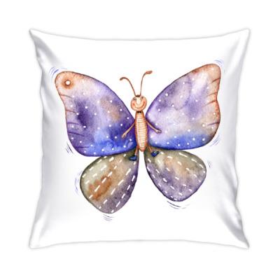 Смешная акварельная бабочка