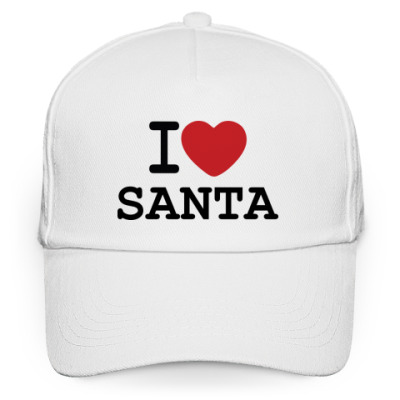Кепка бейсболка Новогодний принт I Love Santa