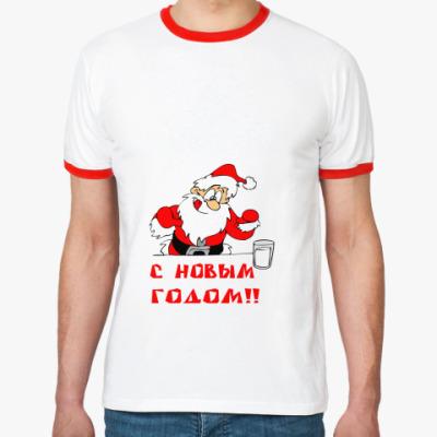 Футболка Ringer-T С Новым годом!