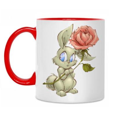 Кружка Заяц и роза
