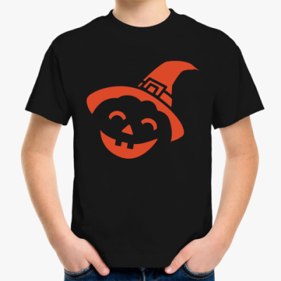 Детская футболка Тыква на Хэллоуин