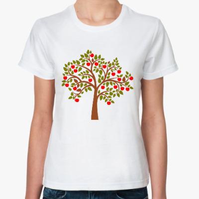 Классическая футболка Яблоня