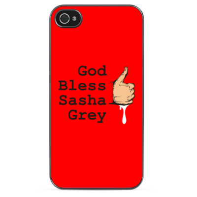 Чехол для iPhone God Bless Sasha Grey