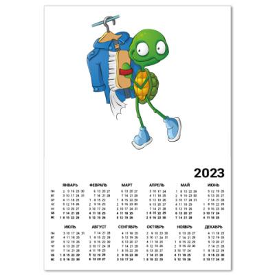 Календарь Чистюля Черепашонок с щеткой