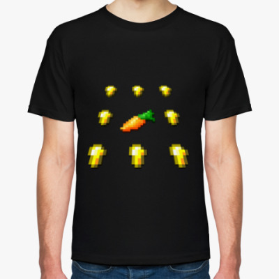 Футболка MineCraft - Золотая морковь