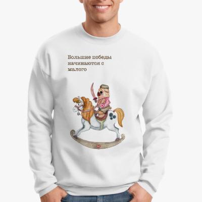 Свитшот мопс на коне