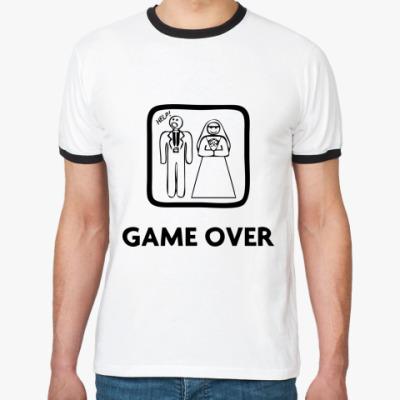 Футболка Ringer-T Game Over. HELP!